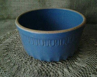 Antique Blue Yellow Ware Bowl