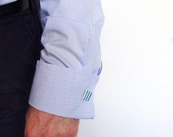 Striped Cuff-links, Ceramic Cufflinks, Male Christmas gift, Birthday Gift For Him.