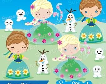 Frozen clipart set