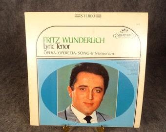 Capitol Records Lyric Tenor, Fritz Wunderlich Vinyl Record