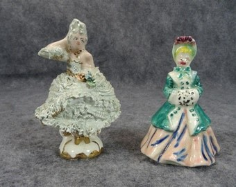 Vintage Hand-Painted Porcelain Figurines