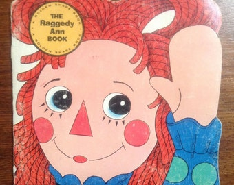 1974 A Golden Shape Book The Raggedy Ann Book- Little Golden Shape Book - Vintage Children's Book