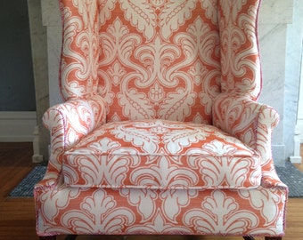 Antique Wing Back Chair - New Upholstery!