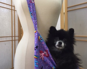 Dogg Bag dog carrier small pet sling My Little Pony print 100% cotton