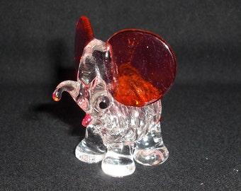 Miniature Glass Elephant