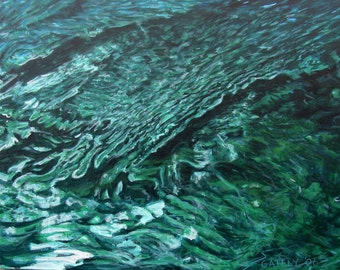 Emerald Ripples - Painting