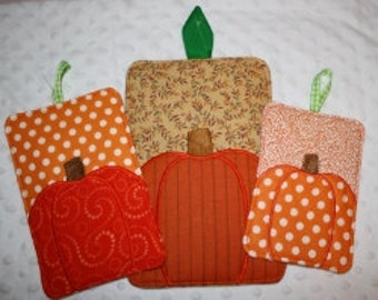24 Hour Sale Price!   Pumpkin Potholders Embroidery Machine Designs for the 5x7, 6x10 and 7x12 hoop