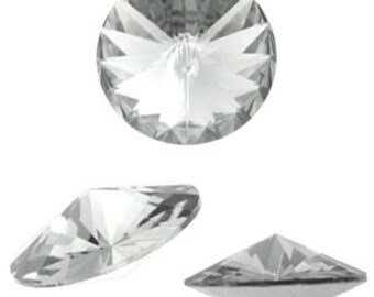 1122 - Swarovski Rivoli 14mm Crystal - 4 pcs.