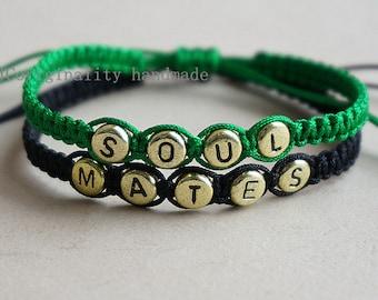 Handmade Bracelet ,Couple Bracelet , soul mates  bracelet