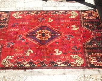 Antique Shikar Gah Hunting Carpet