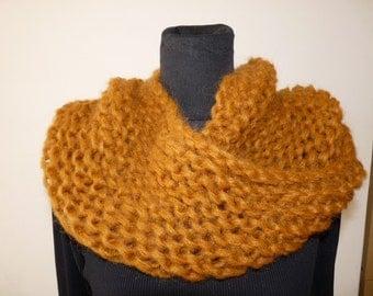 Mohair wool scarf handmade