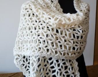 Sale 30% -  Stole wool handmade