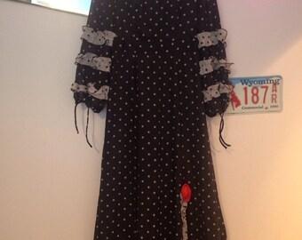 70s Vintage Flamenco Maxi Dress