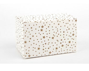 2 x Gift Boxes / Gold stars box / Medium gift box / wedding gift boxes / paper boxes / cookie box / craft boxes / candle boxes / soap boxes
