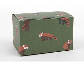 2 x Gift Boxes / Green Fox box / Medium gift box / wedding gift boxes / paper boxes / cookie box / craft boxes / candle boxes / soap boxes