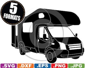 Fantastic Camper Van Icons  Stock Vector  Bioraven 21889385