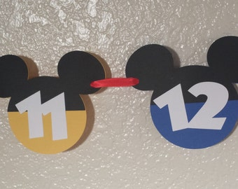 Mickey Mouse clubhouse Newborn to 12 Months Photo Banner, Mickey Mouse Banner, Mickey Mouse 1st Birthday