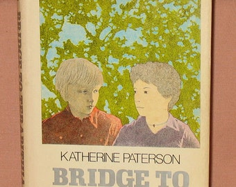 Bridge to Terabithia Katherine Paterson Children's Book First Edition First Printing Illustrated Donna Diamond