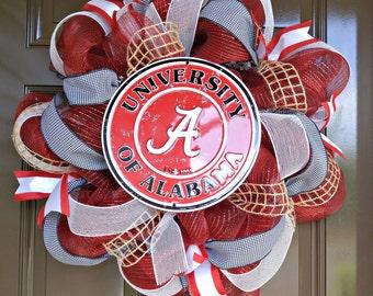 Alabama Wreath; Roll Tide; Bama; Alabama Sports Wreath