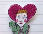 Grayson Perry as Claire brooch