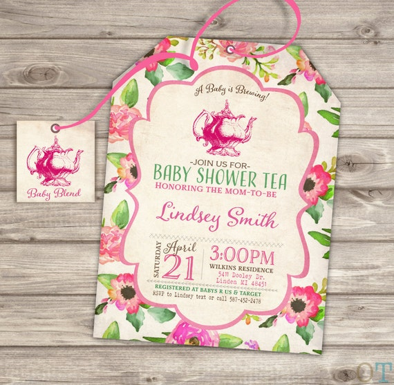 baby shower tea party shower invitations party download,