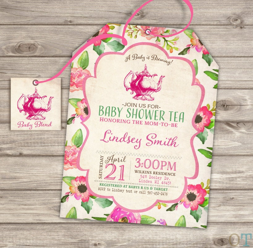 Baby Shower Tea Party Shower Invitations Party Download