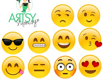 Emoji Vector - Ready to Download 10 Emoticons