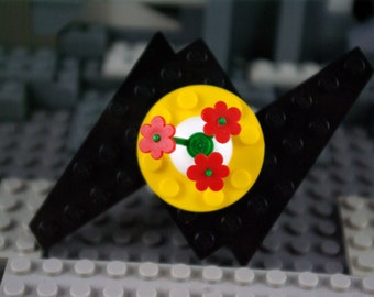 Hairpin with Flowers pin brooch Hairclip handmade from Lego and Mega Bloks