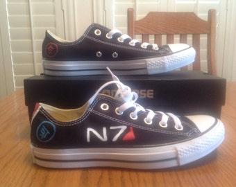 Custom Mass Effect Canvas Shoes