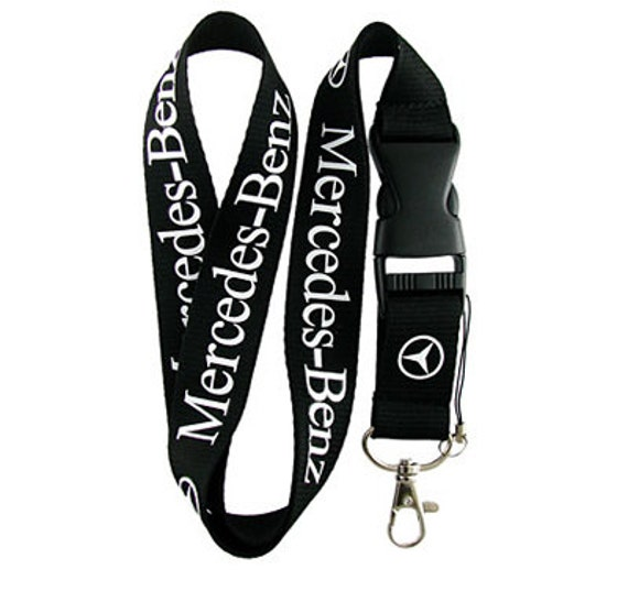 mercedes auto neck lanyard keychain wear it around by
