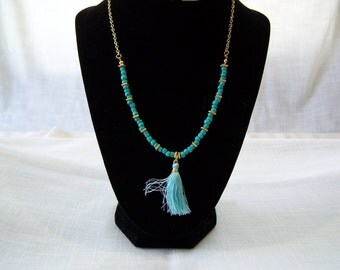 """21"""" Long Turquoise Necklace"""