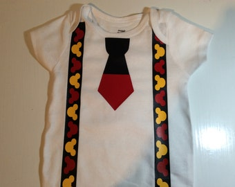 Custom Mickey Mouse suspenders shirt