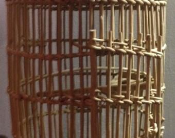 Vintage Wicker Birdcage