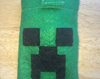 Minecraft phone cover, Electronic Creeper phone case/ iPhone/ iPod 3Ds Nintendo
