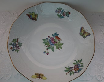 Herend Hungary  hand painted cake/fruit bowl.