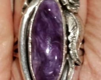 Purple jasper ring