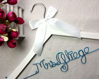 Ships in 1-3 days,Personalized Wedding Hanger,bridesmaid gifts,name hanger,hanger, bride gift,bride hanger for wedding dress,Bridal Hanger