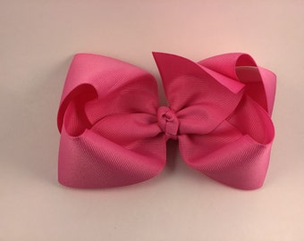 Bubble gum pink hair bow