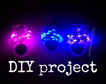 DIY project lights Led lights for light up clothing headpiece costumes tutu Battery fairy lights!