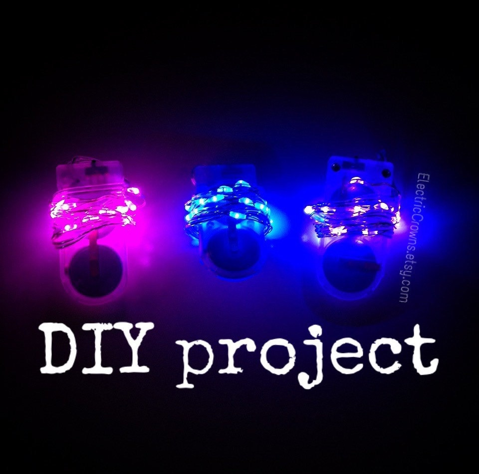 Do Led String Lights Get Hot : DIY project lights Led lights for light up clothing headpiece