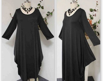 Plus Size Dress,Plus size clthing,New Designer Waterfall Lagenlook Plus Size Dress. 2XL3XL AND 4XL/5XL