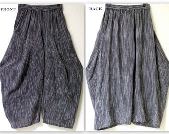 ComfyPlus Hand spun Cotton Flax Lagenlook Plus size Pants. Buy the Matching top Separately.