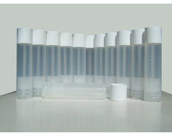 Lip Balm Containers Tubes, Twenty Five (25) Pack, Empty Transparent Plastic 0.15 oz, 5g Twist Screw From Bottom DIY Lip Stick, Chapstick