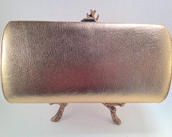 Vintage 70s Gold Lamè Clutch Handbag 70s & 80s Clubwear
