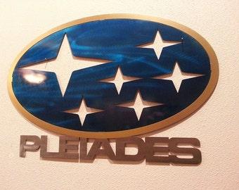 Custom 2'x2' - 24''x24'' -2-3 Color Painted Sign - Man Cave, Signage, Creative, Unique, Gift, Metal art, Subaru, Saab, Cars, Auto, Stulpture