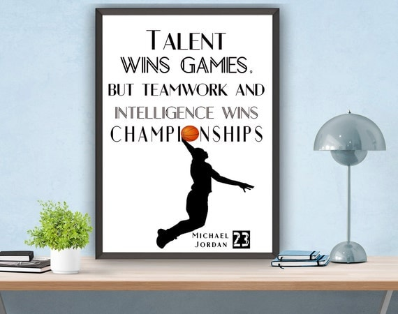 Michael jordan wall decor : Michael jordan printable wall decor motivational by