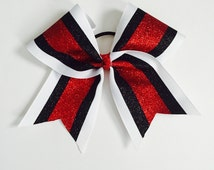 3 color custom cheer bow