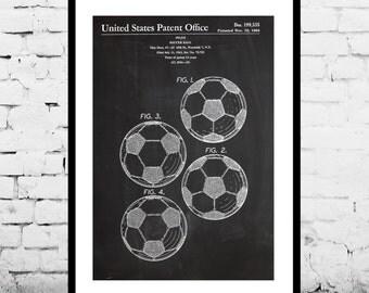 Soccer Ball Poster, Soccer Ball Print, Soccer Ball Patent, Soccer Ball Art, Soccer Ball Decor, Soccer Ball Blueprint, Soccer Decor