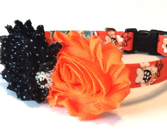 Floral Dog Collar ~ Adjustable ~ Matching Leash Available
