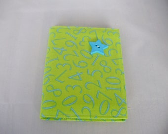 Fabric covered notebook - A6 - Number fabric.